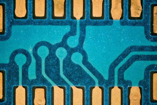 circuito integrado fotografía macro